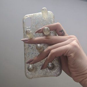 Bailey Hikawa Poki iPhone X/Xs case silver sparkl